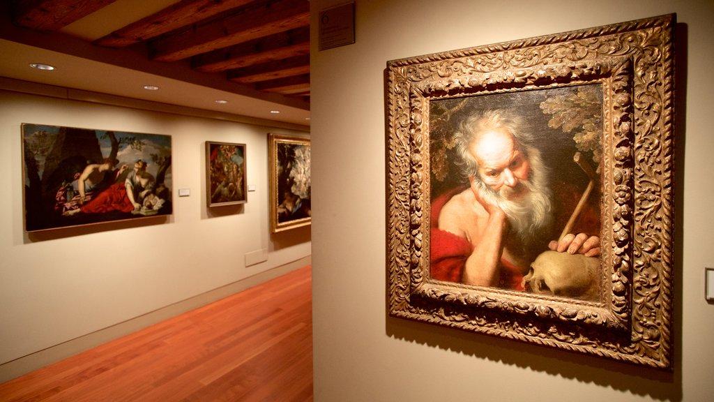 Ca\' Rezzonico featuring art and interior views