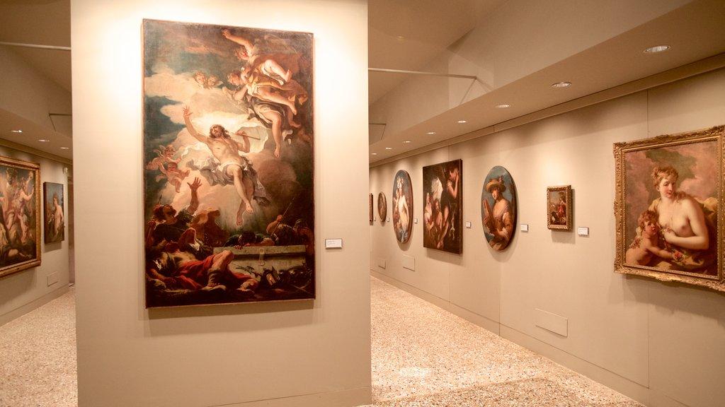 Ca\' Rezzonico featuring interior views and art