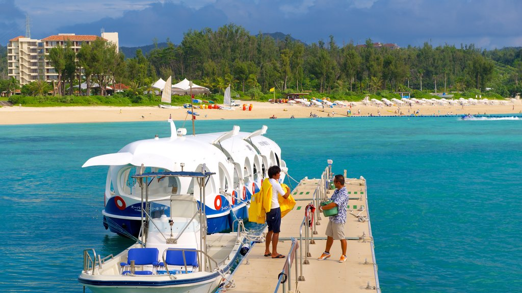 Busena Marine Park which includes a sandy beach