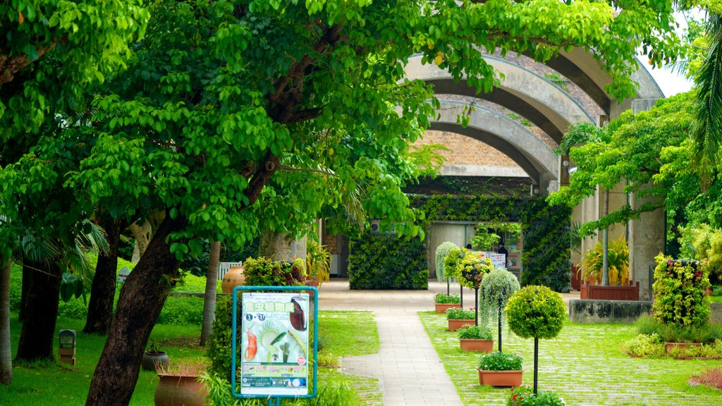 Ocean Expo Memorial Park showing a garden