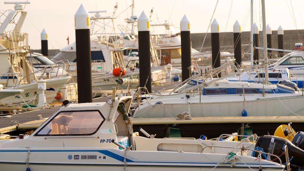 Okinawa featuring a marina