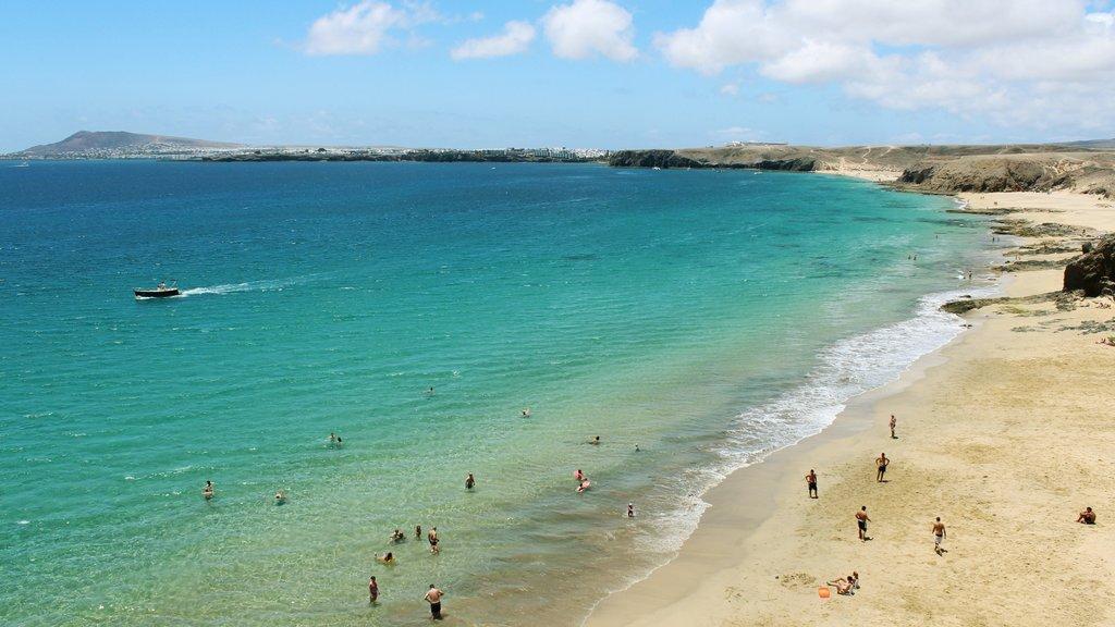 Lanzarote which includes a beach