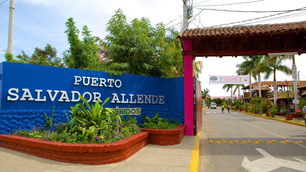 Managua showing signage