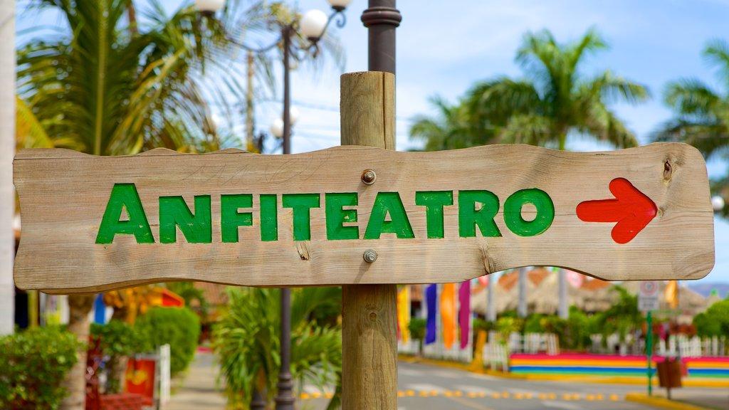 Western Nicaragua showing signage