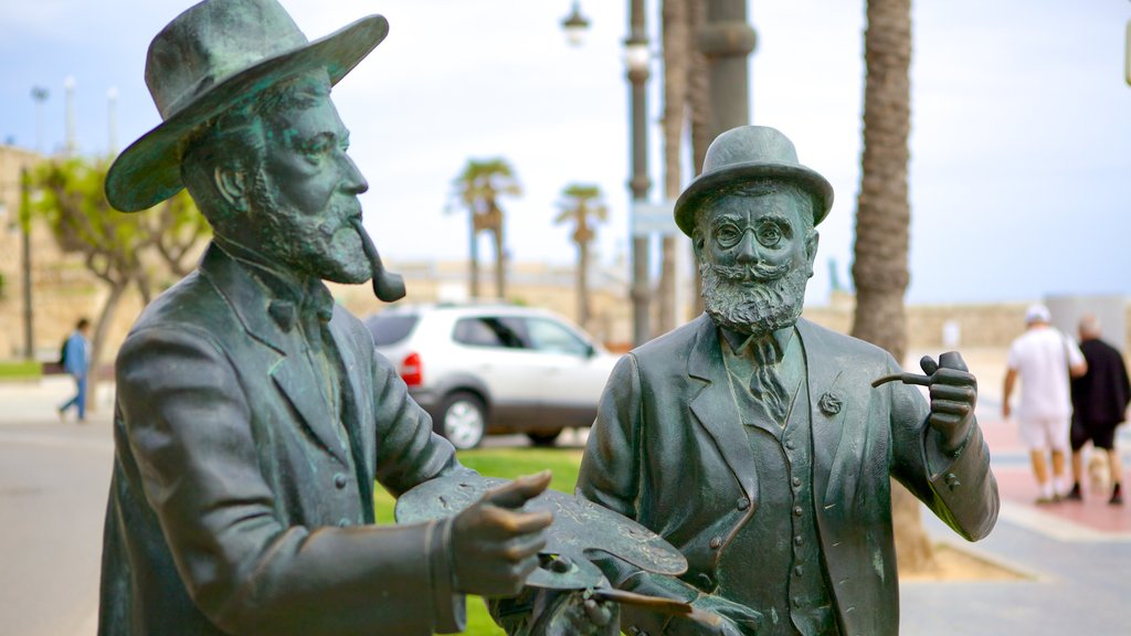 Sitges featuring a statue or sculpture