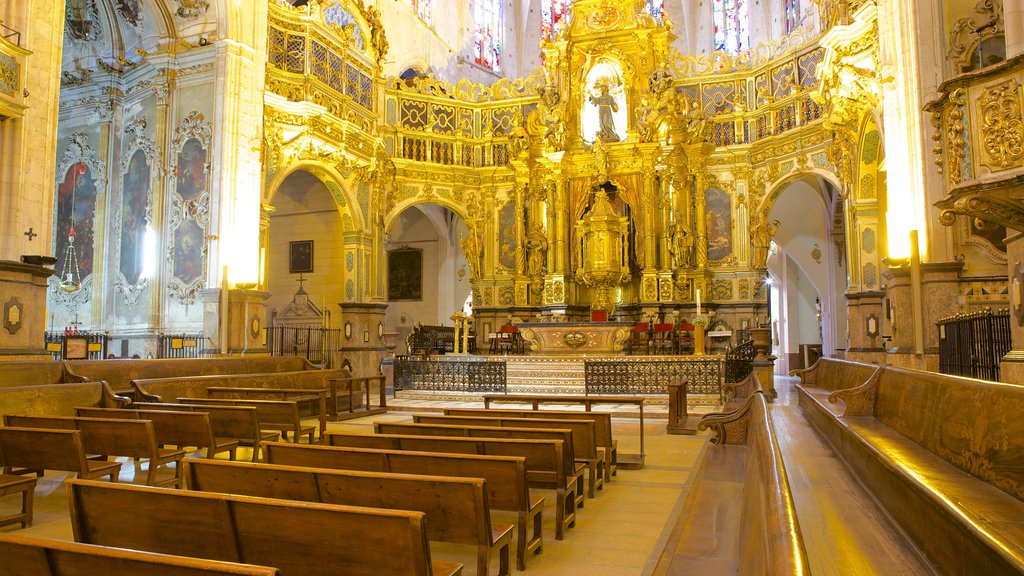Basilica of St. Francis showing a church or cathedral, religious elements and interior views