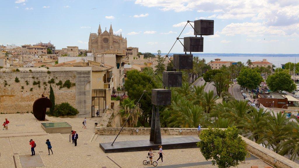 Es Baluard featuring outdoor art