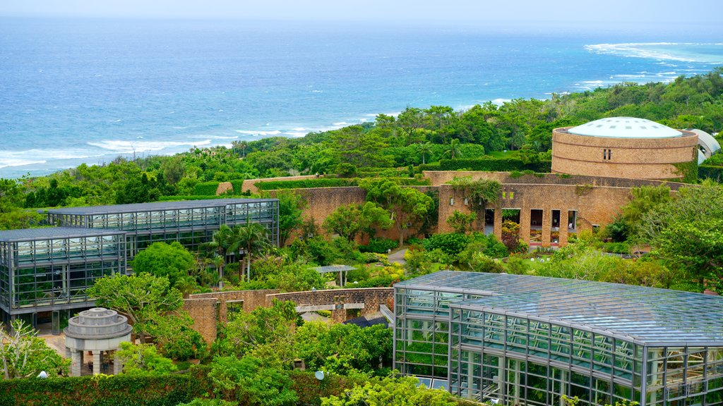 Okinawa showing heritage architecture, general coastal views and modern architecture