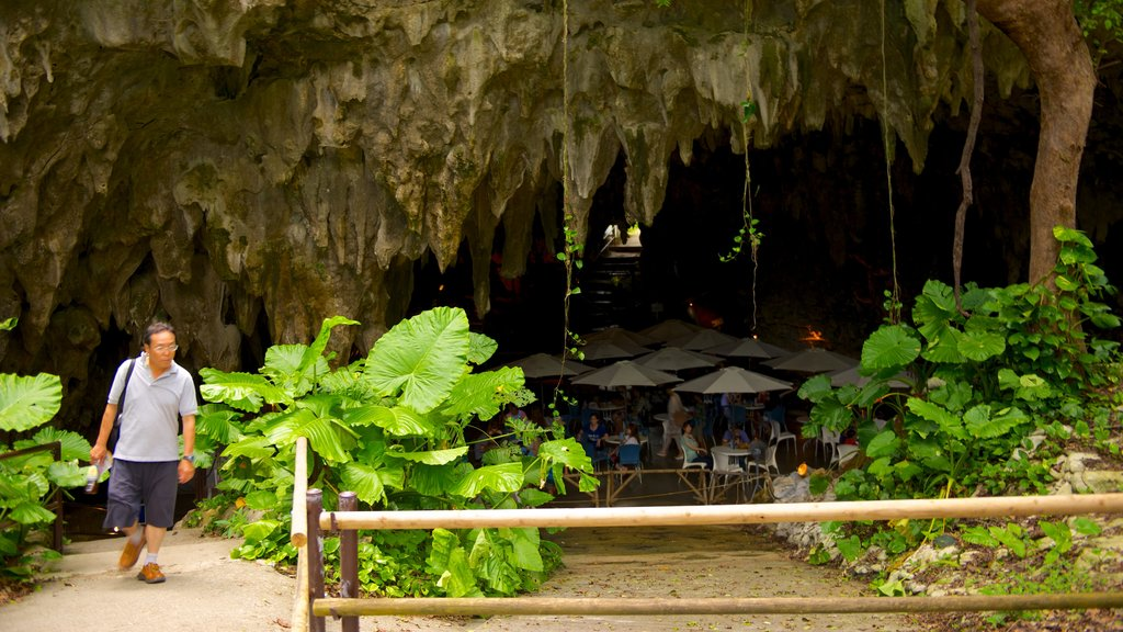 Okinawa which includes caves as well as an individual male