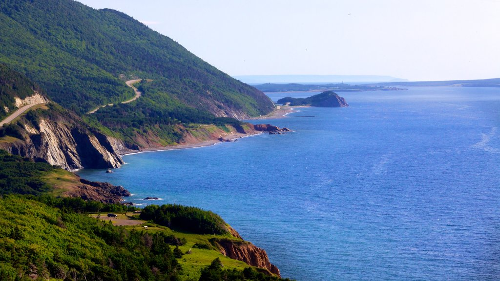 Cape Breton Island showing rugged coastline