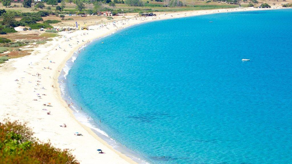 Calvi showing a sandy beach