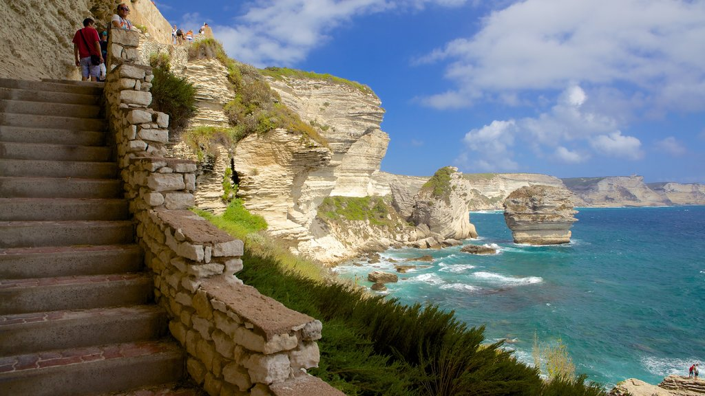 Bonifacio showing rugged coastline