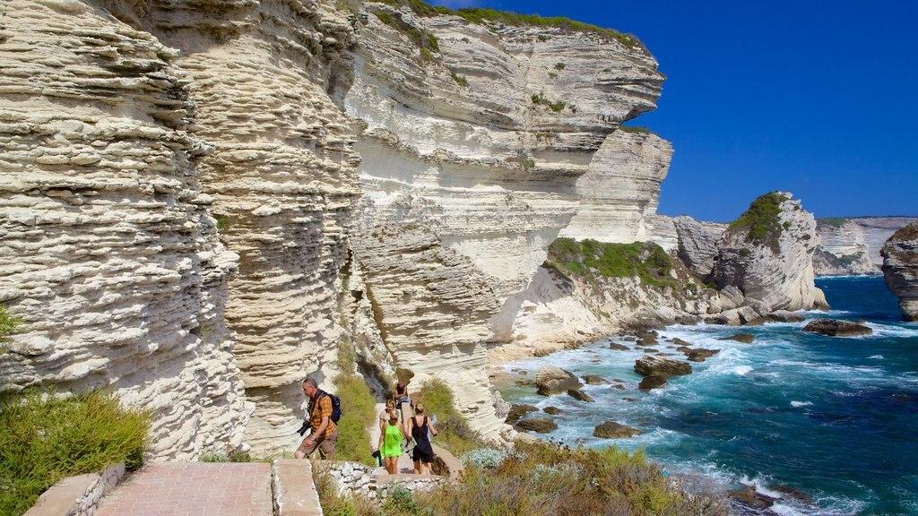 Bonifacio featuring rocky coastline and hiking or walking