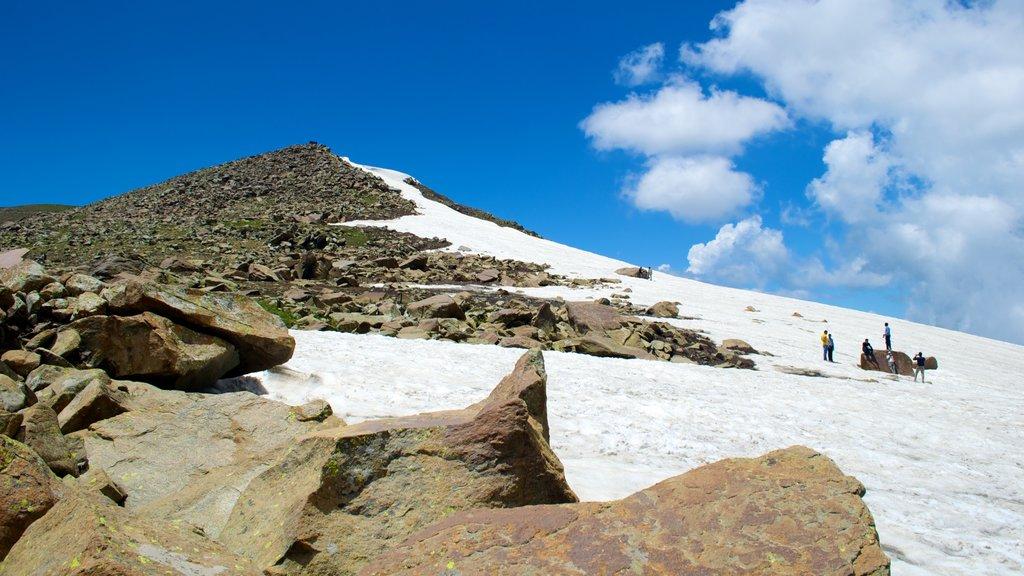Gulmarg ofreciendo nieve y montañas