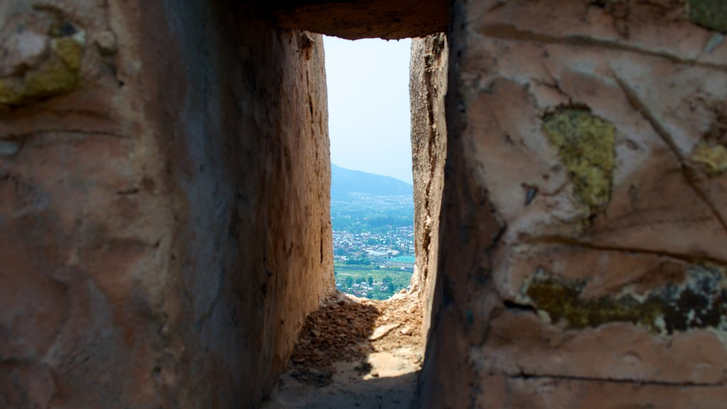 Hari Parbat Fort showing landscape views