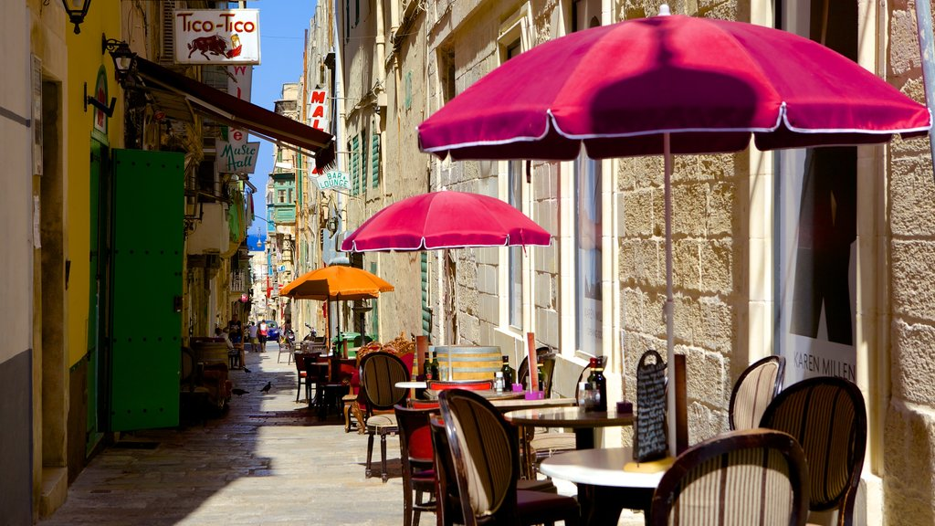 Valletta which includes street scenes