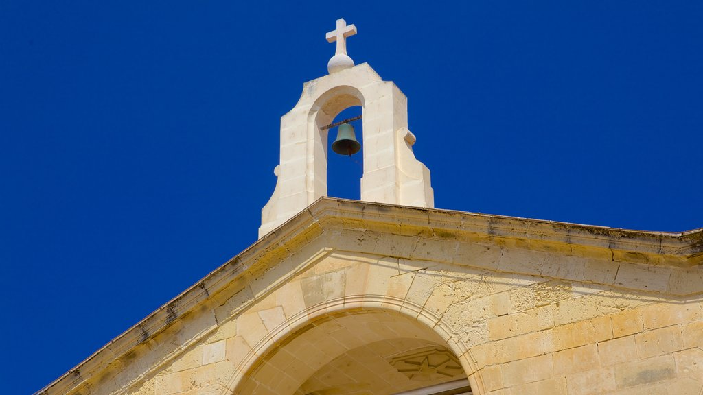 St. Paul\'s Bay which includes religious aspects, a church or cathedral and heritage architecture