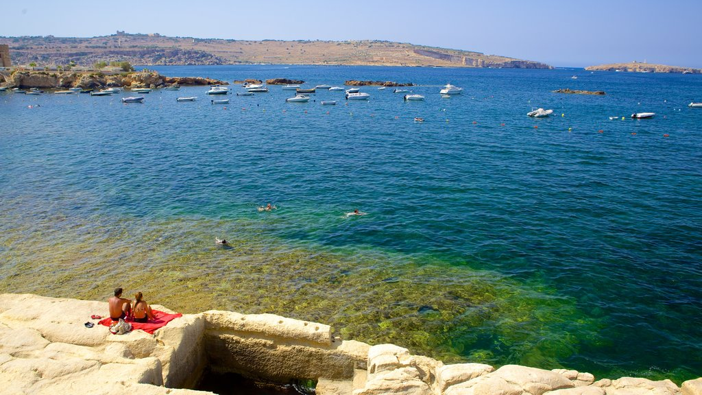 St. Paul\'s Bay which includes rocky coastline