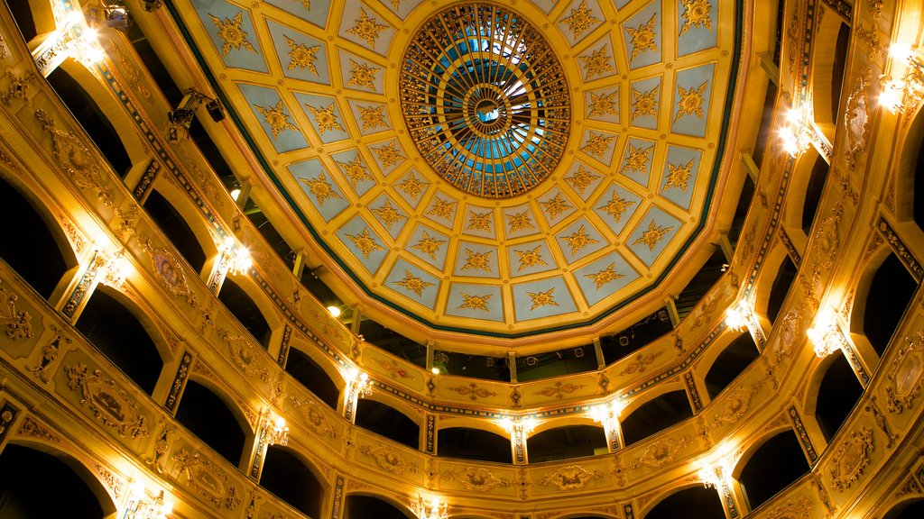 Manoel Theatre which includes theater scenes, heritage architecture and interior views