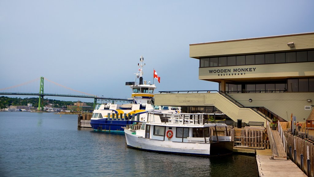 Dartmouth showing a marina
