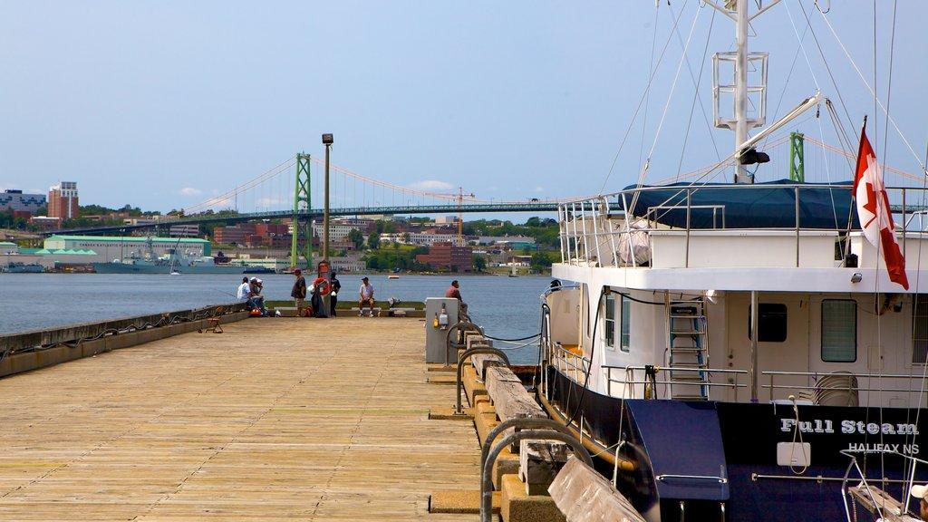 Dartmouth featuring general coastal views and a marina