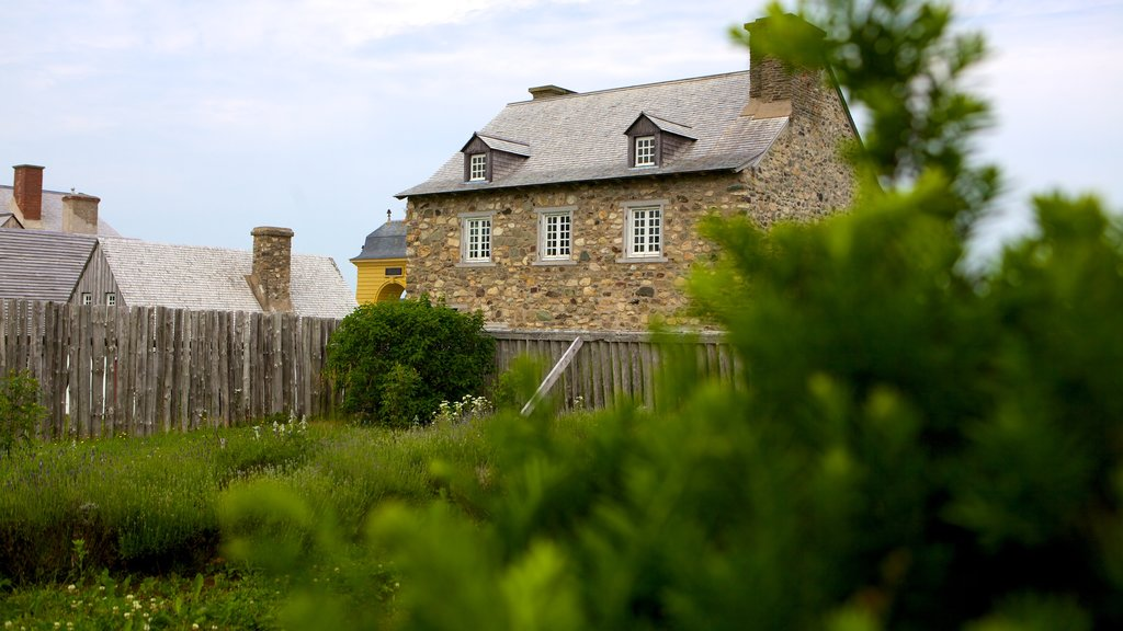 Fortress Louisbourg National Historic Site featuring heritage architecture and a house