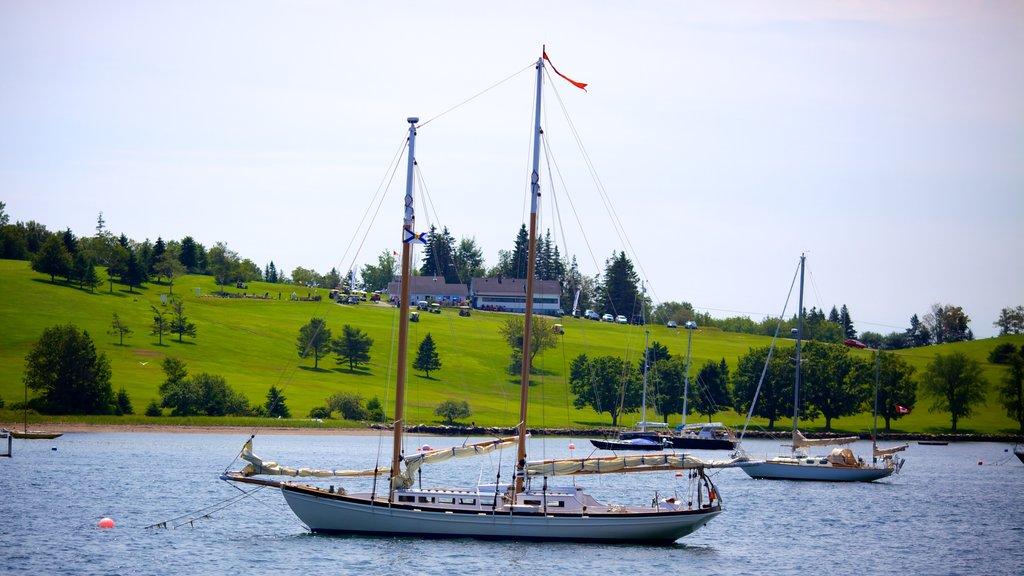 Lunenburg showing general coastal views, sailing and landscape views