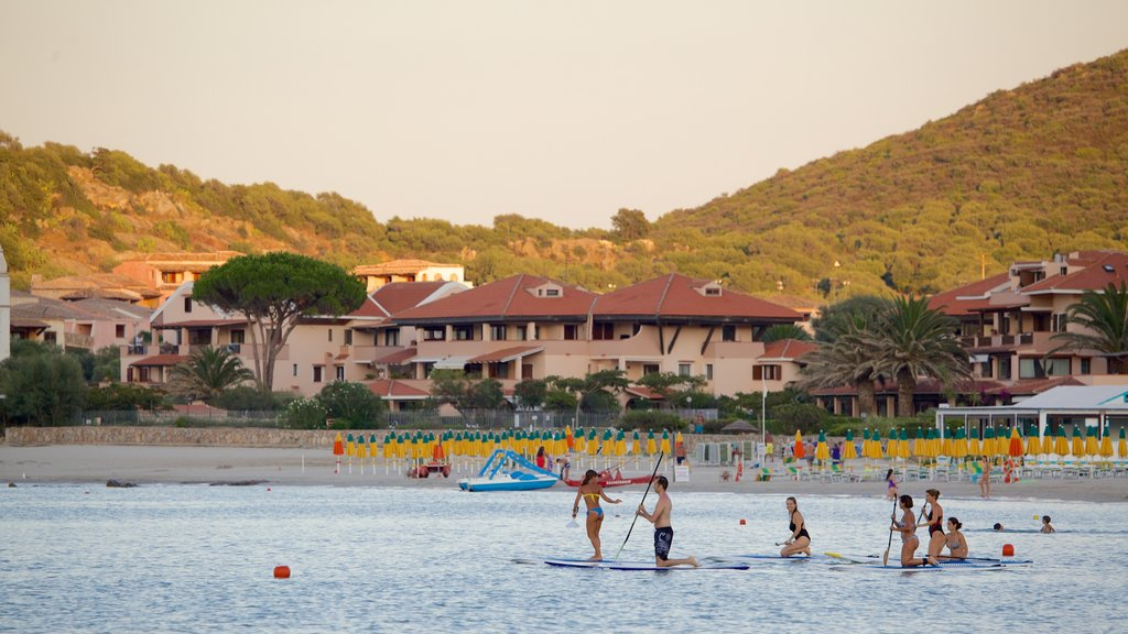 La Marinella Beach which includes a coastal town, a beach and watersports