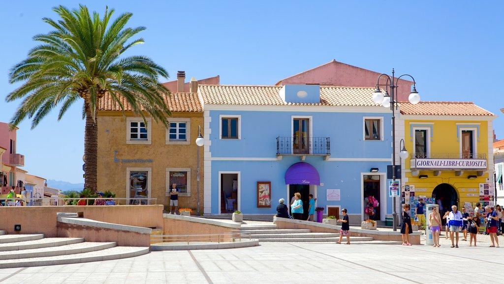 Santa Teresa di Gallura featuring street scenes and a small town or village