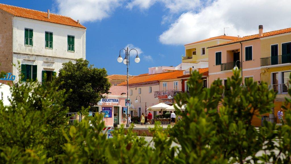Santa Teresa di Gallura which includes a small town or village
