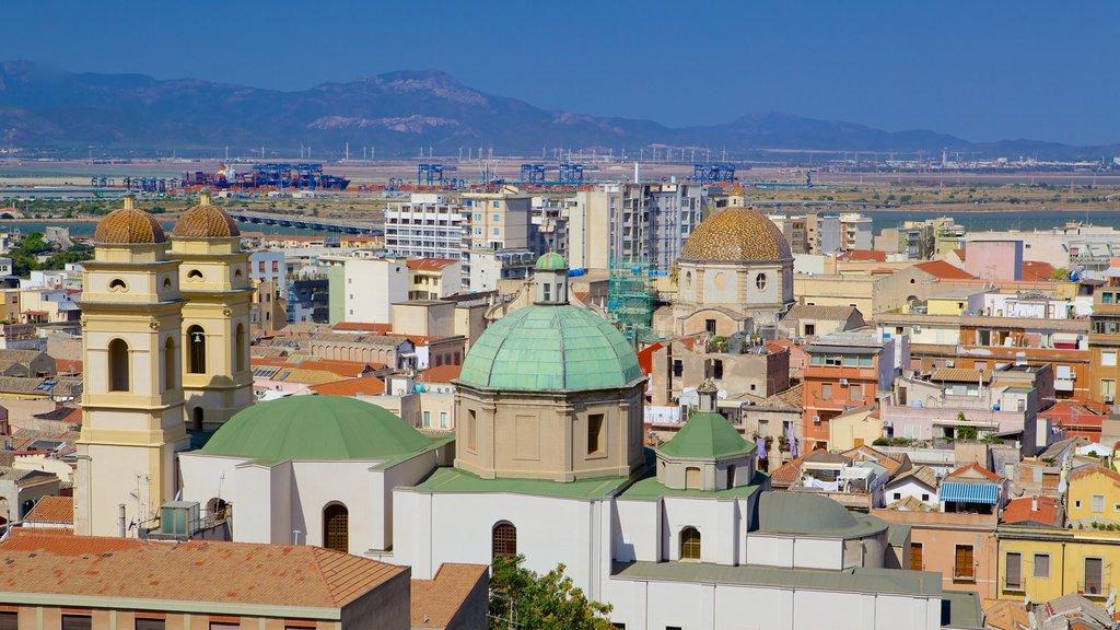 Cagliari featuring a city