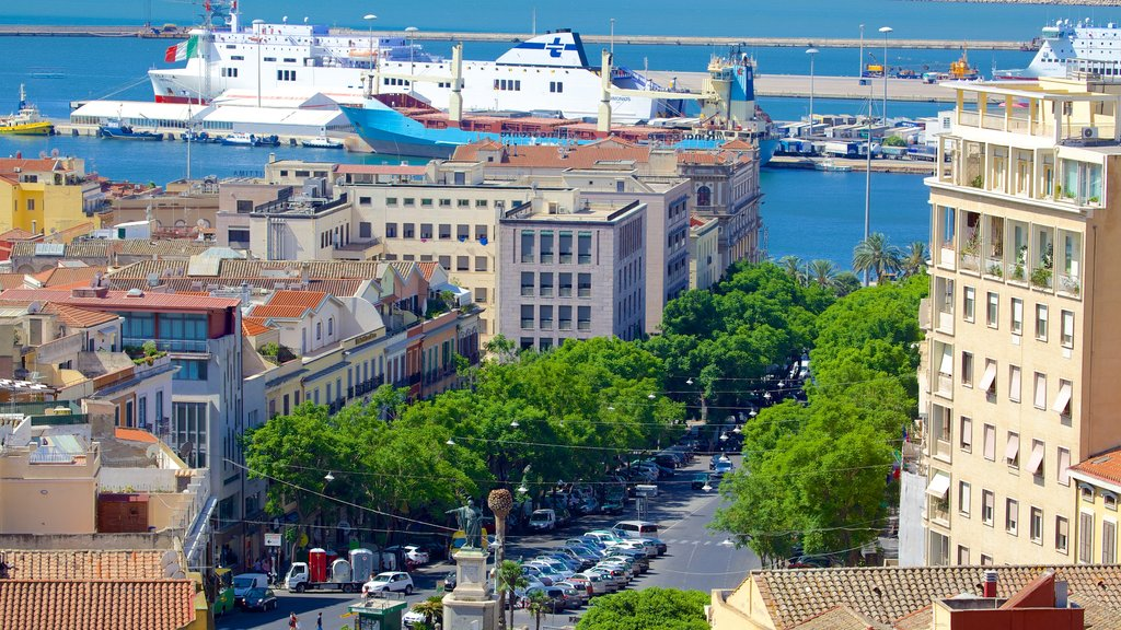 Cagliari showing a coastal town