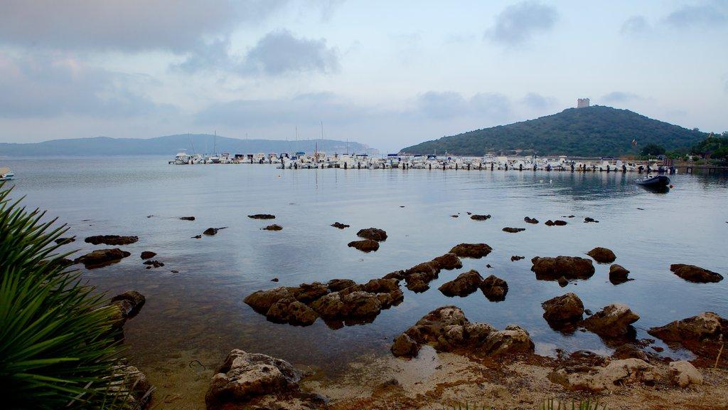 Capo Caccia which includes rugged coastline