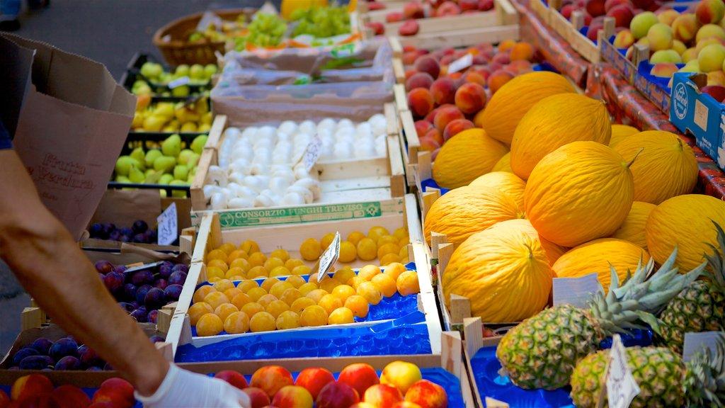 Catania mostrando comida