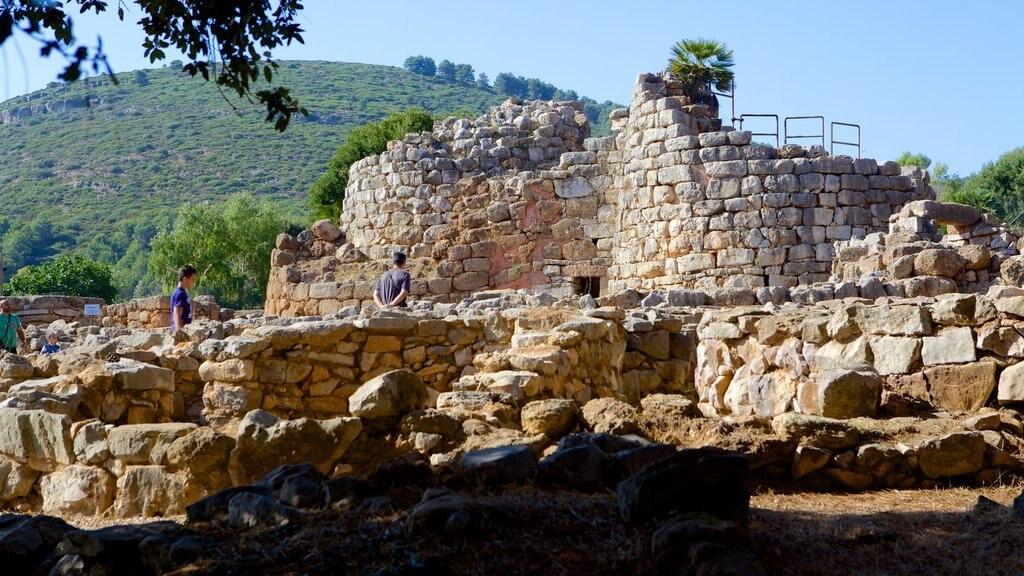 Nuraghe di Palmavera which includes heritage architecture and a ruin