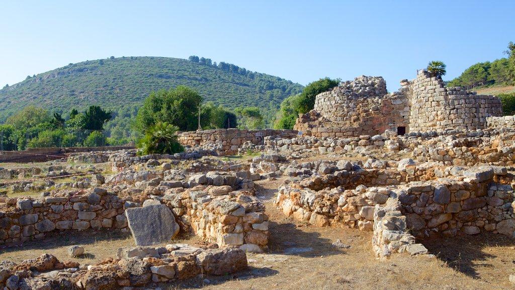 Nuraghe di Palmavera showing heritage elements and a ruin