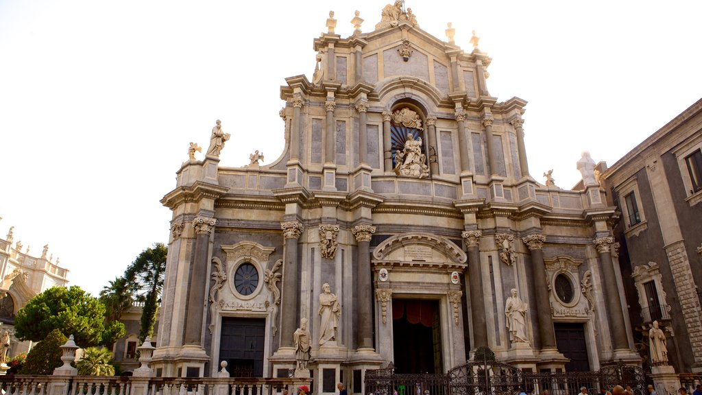Catania Cathedral showing a church or cathedral and religious aspects