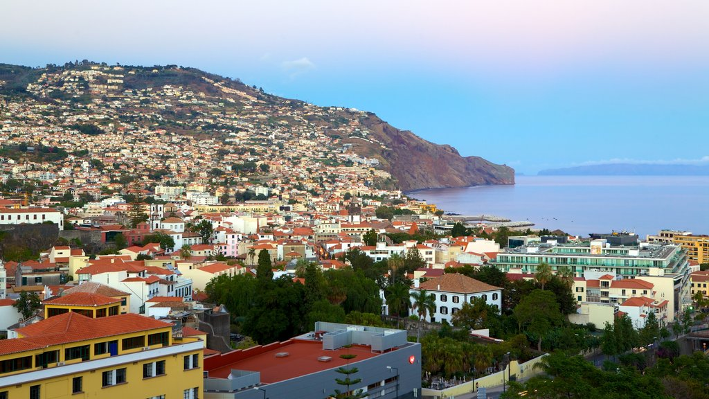 Funchal featuring general coastal views and a coastal town