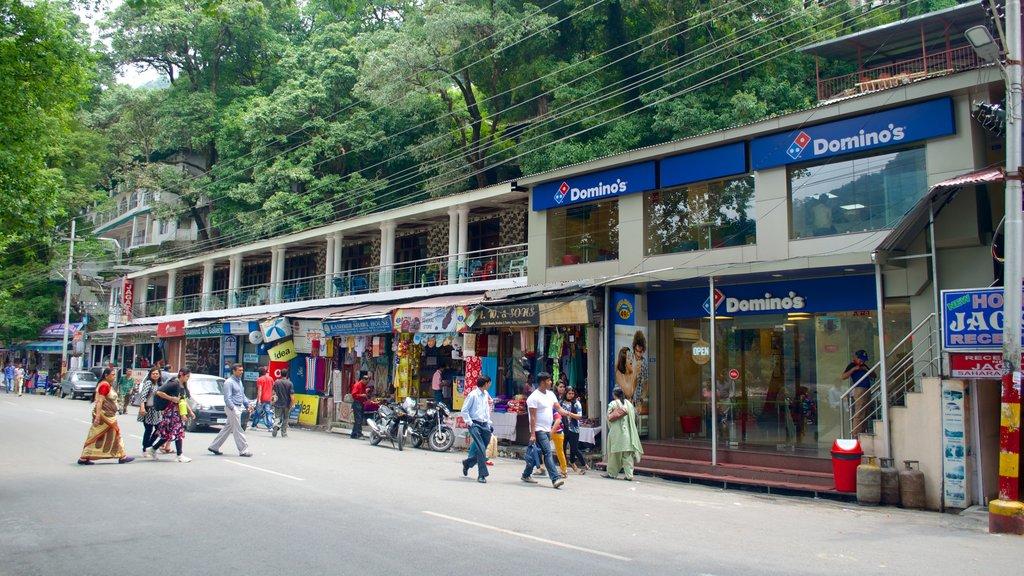 Nainital showing street scenes