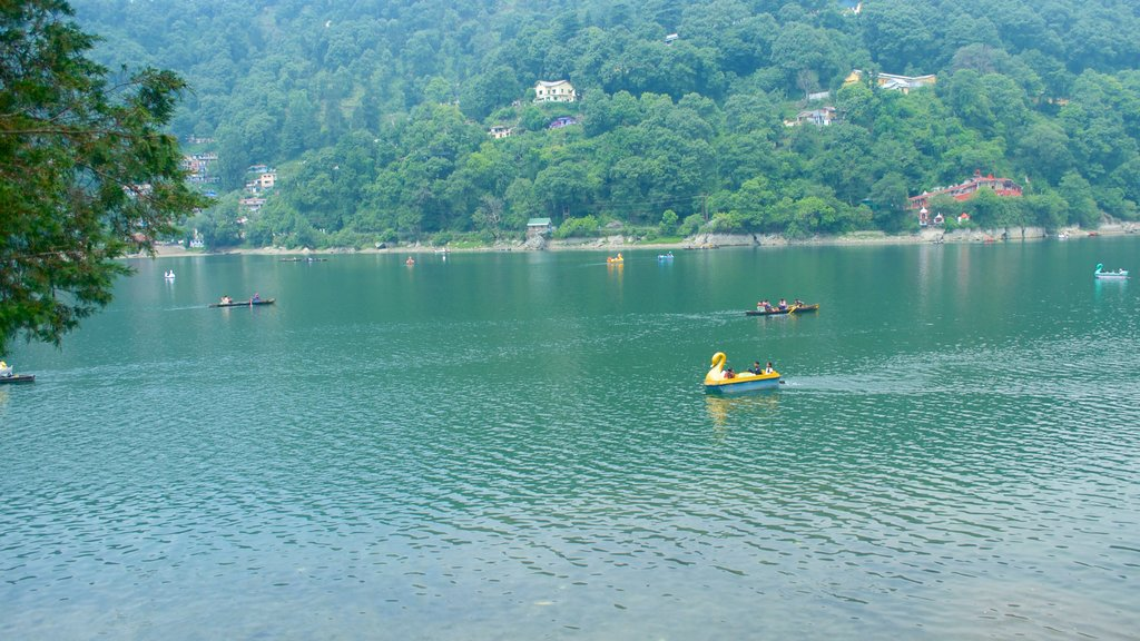 Nainital Lake which includes kayaking or canoeing, landscape views and a lake or waterhole