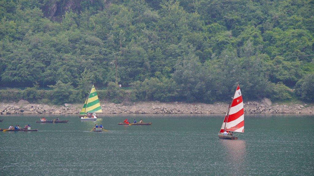 Nainital Lake showing sailing, kayaking or canoeing and a lake or waterhole
