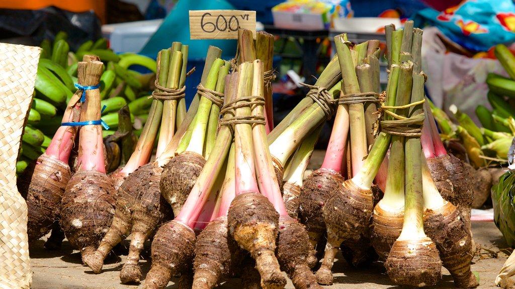 Port Vila mostrando mercados y comida