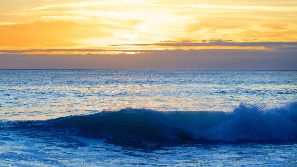 Madeira Island which includes surf and a sunset