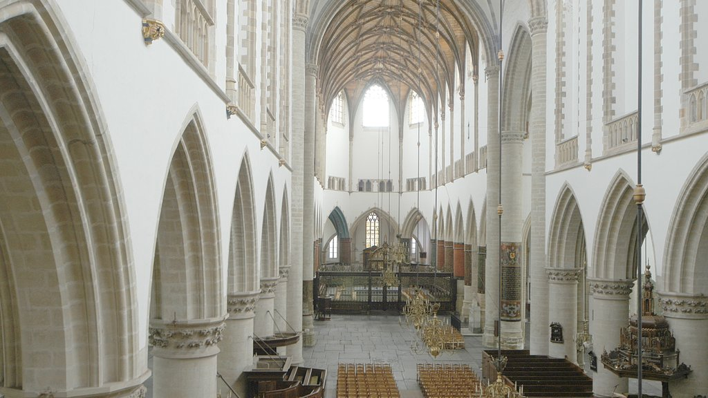 Haarlem featuring interior views, religious elements and a church or cathedral