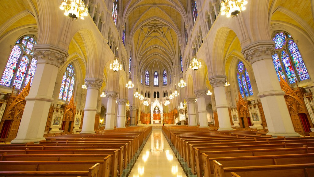 Cathedral of the Sacred Heart featuring interior views, a church or cathedral and religious aspects
