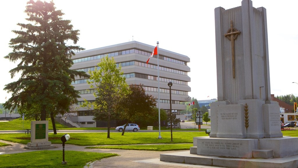Sudbury featuring a monument and a park