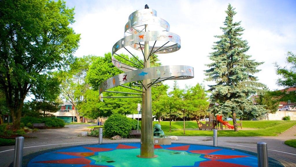 Sudbury featuring outdoor art and a garden