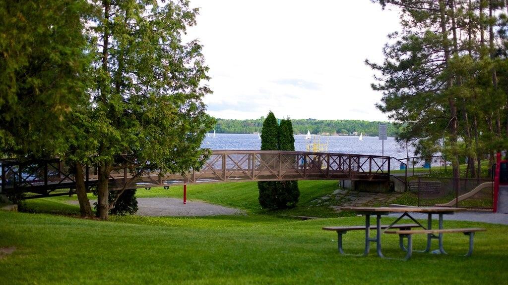 Sudbury showing a garden and a bridge