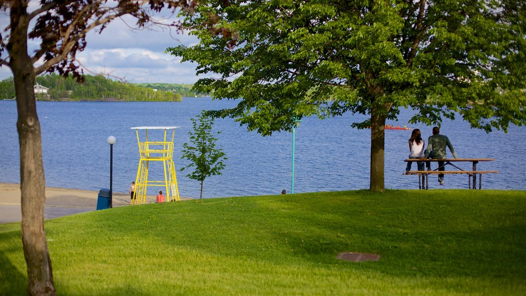 Sudbury featuring a lake or waterhole and a garden