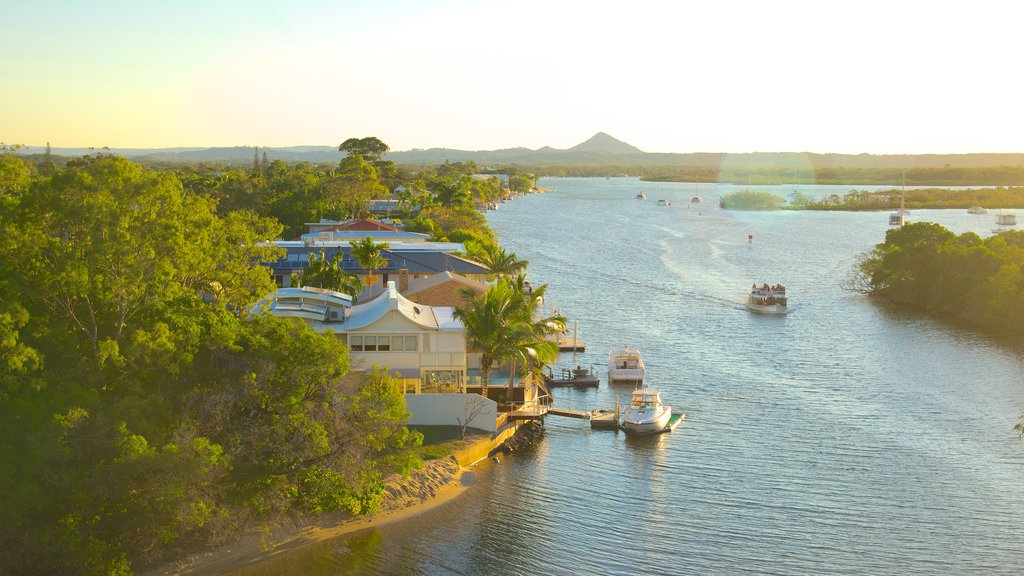 Noosaville featuring general coastal views and boating